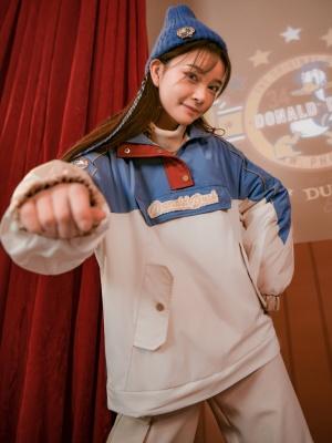 Disney Authorized Hooded Padded Sweatershirt by Mori Tribe
