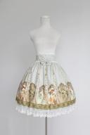 Custom Size Available Elegant High Waist Lace Hemline Lolita Skirt / SK - Mucha by Souffle Song