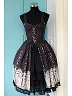 Custom Size Available Open Front Lace Hemline Tiered Lolita JSK - Mucha by Souffle Song