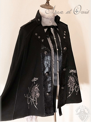 Chess Series Knight Embroidery Ouji Gothic Cape by Arca et Ovis