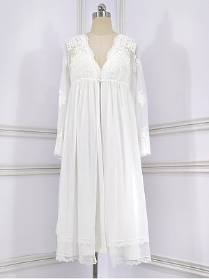Lace Sexy V Neckline Vintage Nightgown Cami Dress by Angel fields