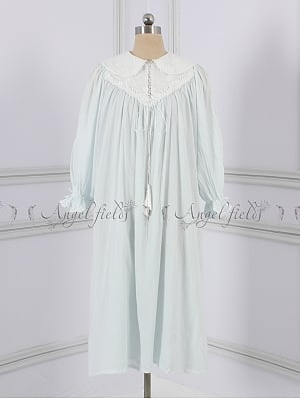 Light Blue Princess Peter Pan Collar Vintage Pajama by Angel fields