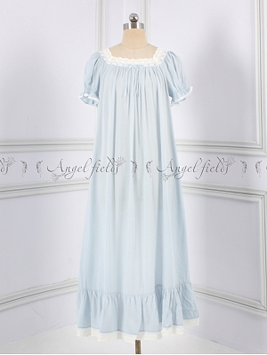 Princess Gemini Girls Square Neckline Vintage Nightgown by Angel fields