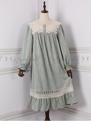 Princess Round Neckline Vintage Pajama Dress by Angel fields