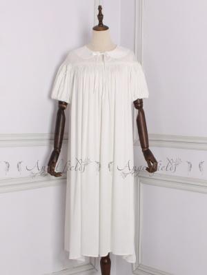 Drop Shoulder Short Sleeves Princess Vintage Pajama by Angel fields