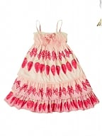 Strawberry and Bowknot Prints Tiered Flounce Skirt JSK by Bacio Bouquet