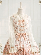 Swan Lake Lace Long Sleeves Stand Collar OP By CEL