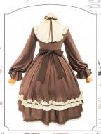 Button Doll Vintage Long Sleeves Lolita Dress OP by ChunLv Lolita