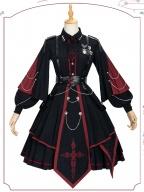 Sanctioner Military Lolita Dress OP Full Set by ChunLv Lolita