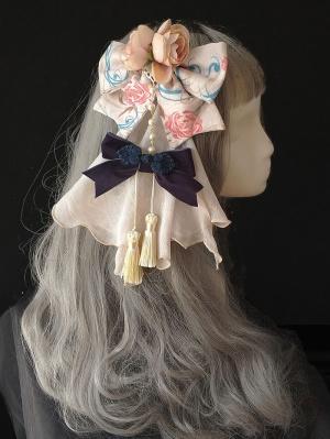 Floral Bowknot Qi Lolita Hairclip
