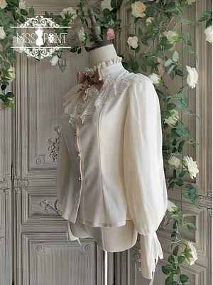 Rose Doll Elegant Vintage High Collar Lolita Shirt Custom Size Available