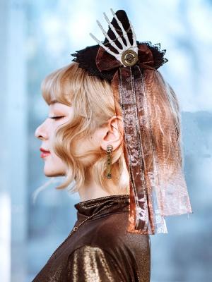 Halloween Headpiece Lolita Little Witch Hat by Mr. Yi's Steamland