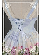 Custom Size Available Sweet Oil Painting Ruffled Wide Straps Jumper JSK - The Song of The Lark by Souffle Song