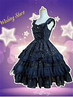 Custom Size Available Gold Stamping Sweetheart Neckline Wave Hemline JSK - Wishing Stars by Souffle Song