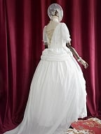 Holy Brilliance of Snow Floor Length Elegant Vintage Wedding Dress by Souffle Song