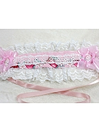 Strawberry Prints Lace Hairband By Souffle Song