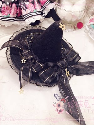 Witch's Feast Star Handmade Lolita Witch Hat by Pearl Bunny