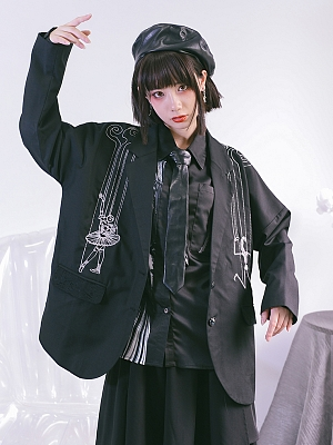 Quirky Hut and Junji Ito Collaboration House of the Marionettes Suit Jacket by Quirky Hut