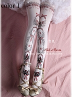 Rose Tale Double-sided Printed  Pantyhose by Red Maria Lolita