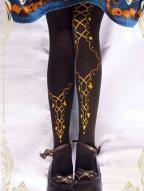 Ribbon-Poker Pantyhose by Ruby Rabbit