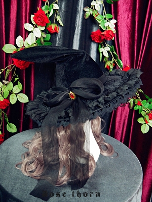Gorgeous Halloween Extravagant Witch Hat by Rose Thorn