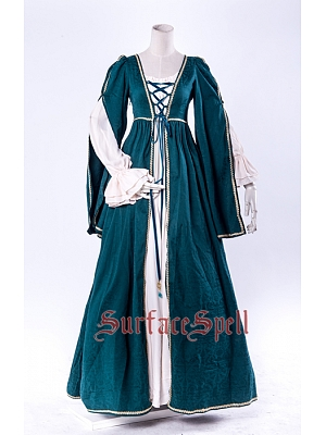 Custom Size Available Middle Age Fake Two-Pieces Gown by Surface Spell