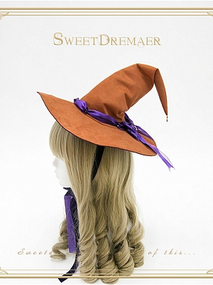 Witch's House Halloween Witch Sharp-horned Henning Hat by SweetDreamer