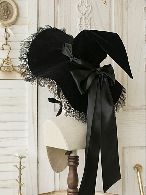 Witch's House Halloween Velveteen Witch Hat by Sweet Dreamer
