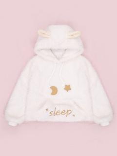 Little Sheep Ears Winter Plush Hoodie