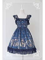 Custom Size Available Pleated Short Sleeves Flounce Hemline JSK - The Mermaids Song by Souffle Song