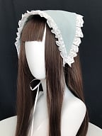 Country Lolita Headpiece Triangle Scarf by With PUJI