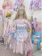 Sweet Rainbow Doll House Lolita Dress SP Sax JSK by C C Cat