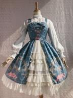 Peacock Cross Chiffon Dress JSK Lolita by Yilia Lolita