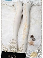 Flower Feather Pantyhose by Yidhra