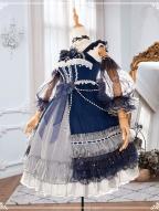 Starry Night Tea Party Lolita Dress JSK Set by YINGLUOFU
