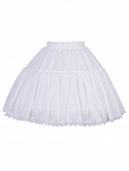 White Tea Party Bell / A Shaped Lolita Petticoat Underskirt by YINGLUOFU