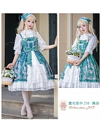 Classic and Elegant Vintage Floral Prints Lolita JSK - Flowers Blossoming by ZhiJinYuan