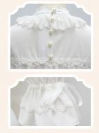 High Collar Sweet Chiffon Lolita Blouse by ZHIJINYUAN