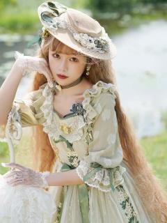 Monica's Garden Lolita Dress Matching Hat by ZeeYe Studio