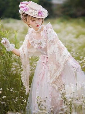 Monica's Garden Matching Lace Shawl by ZeeYe Studio