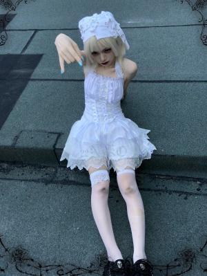 Ascetic Angel Halter Tiered Skirt Dress