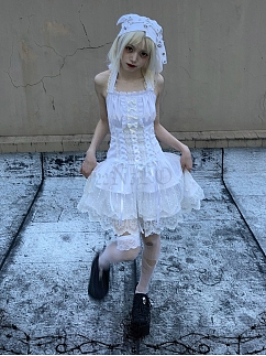 Ascetic Angel Dress Matching Knitted Hat