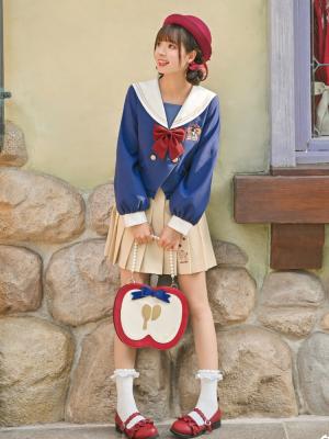 Disney Authorized Snow White JK Uniform Sailor Collar Top / Pleated Skirt Two-pieces Set