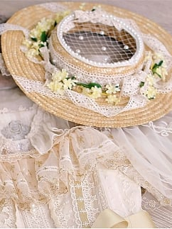 Star Pendant Elegant Lolita Dress Matching Hat