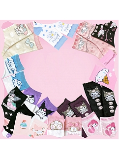 Sanrio Authorized All In Series Socks / Stockings Full Set by Advertising Balloon