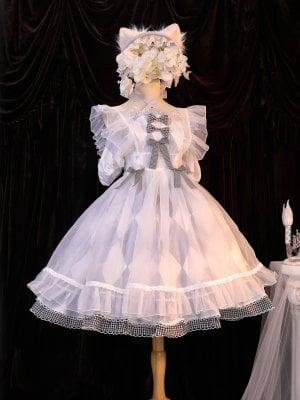 Call Me Alice Short Puff Sleeves Empire Waist Lolita Dress OP Set