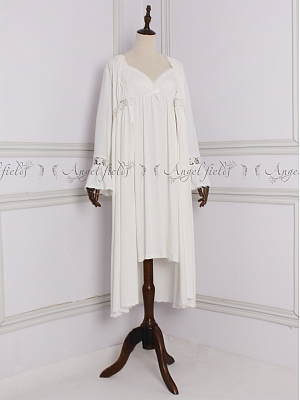 Vintage V-neck Long Sleeves Nightgown Cami Dress by Angel fields