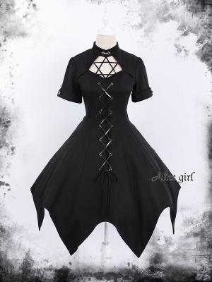 Hexagram Miss Gothic Punk Lolita Dress OP by Alice Girl