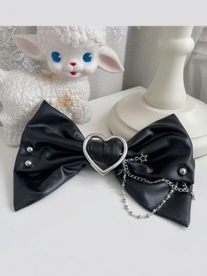 Hot Girl Lolita Idol Dress Matching PU Bowknot Hairclip by Alice Girl