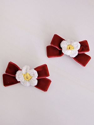 Strawberry Bunny Sweet Lolita Matching Hairclips for Kids